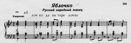 матросское яблочко ноты для аккордеона
